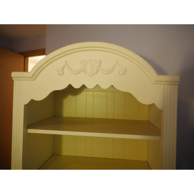 Two Tone Carved and Painted Entertainment Center - Image 2 of 6