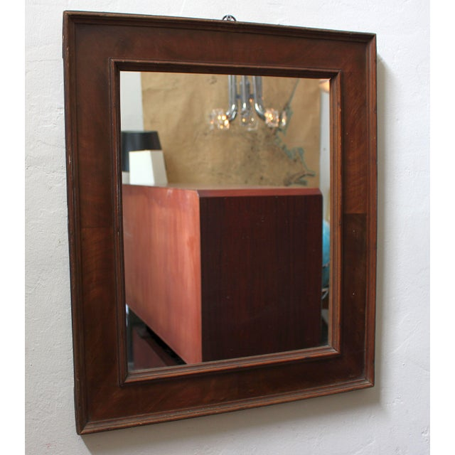 French Art Deco Veneer Mirror For Sale - Image 4 of 5