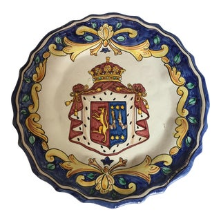 Palazzo Valguarnera-Gangi Hand Painted Platter Made in Italy For Sale