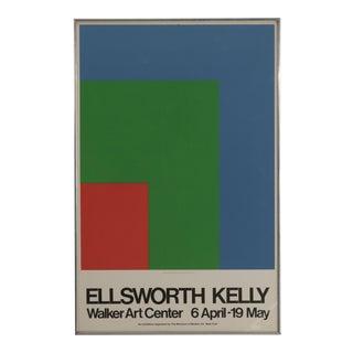 """1970s Vintage """"Red, Green, Blue"""" Ellsworth Kelly Walker Art Center Museum Poster For Sale"""