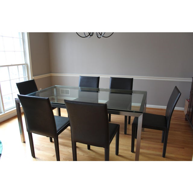 Crate & Barrel Parsons Dining Table - Image 3 of 6