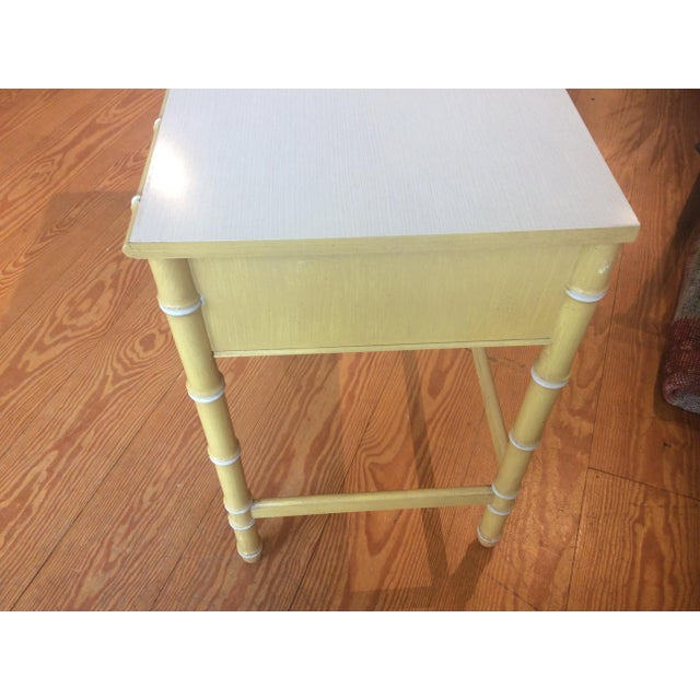 Thomasville Vintage Faux Bamboo Desk For Sale - Image 5 of 9
