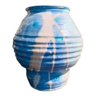 Vintage Postmodern Charles Hannegan Studio Art Pottery Vase For Sale