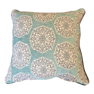 Modern John Robshaw Fabric Pillow For Sale