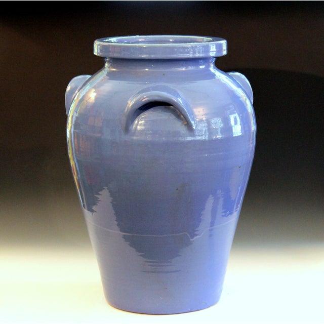 Huge Pickrull Zanesville Norwalk Pot Shop Urn Pottery Arts & Crafts Floor Vase For Sale - Image 10 of 12