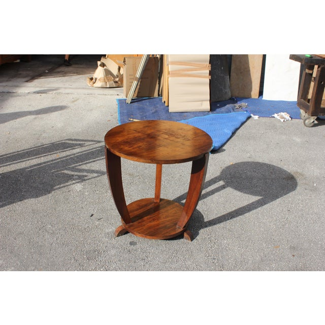 Beautiful French Art Deco Coffee Table or Side Table Exotic Walnut, circa 1940s For Sale - Image 9 of 10