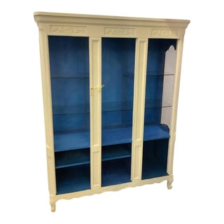 Vintage Drexel Boho French Open Display Book Case For Sale