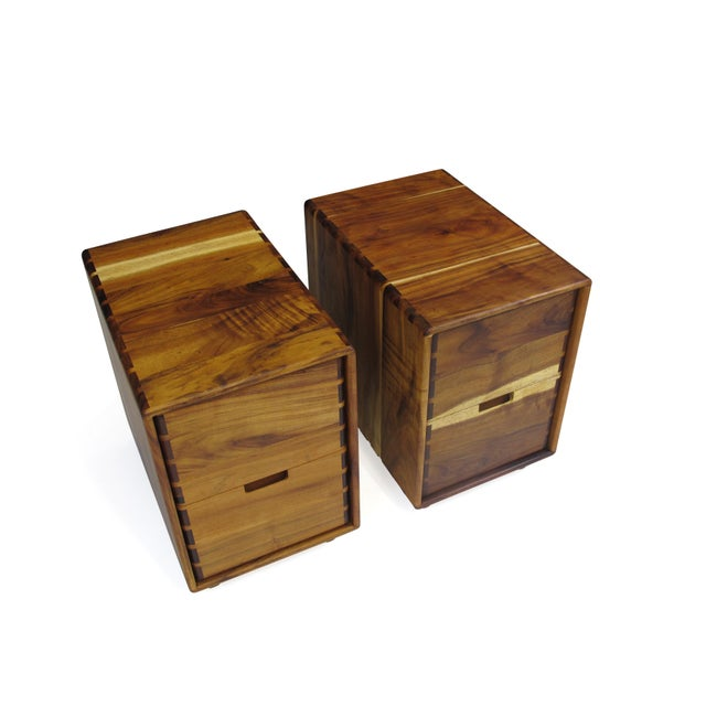 Jim Sweeney Koa Filing Cabinets - a Pair For Sale - Image 9 of 11