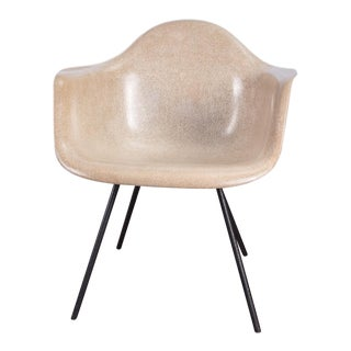 Second Generation Greige Eames Armshell Chair For Sale