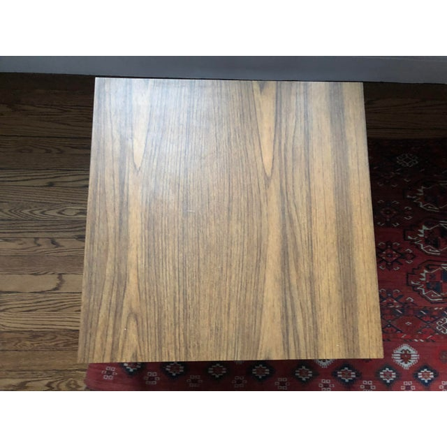 Knoll-Style Chrome Plate & Laminate Side/Coffee Table For Sale - Image 4 of 5