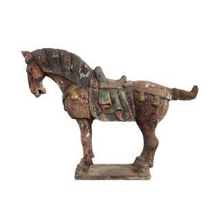 Vintage Ming Wood Horse