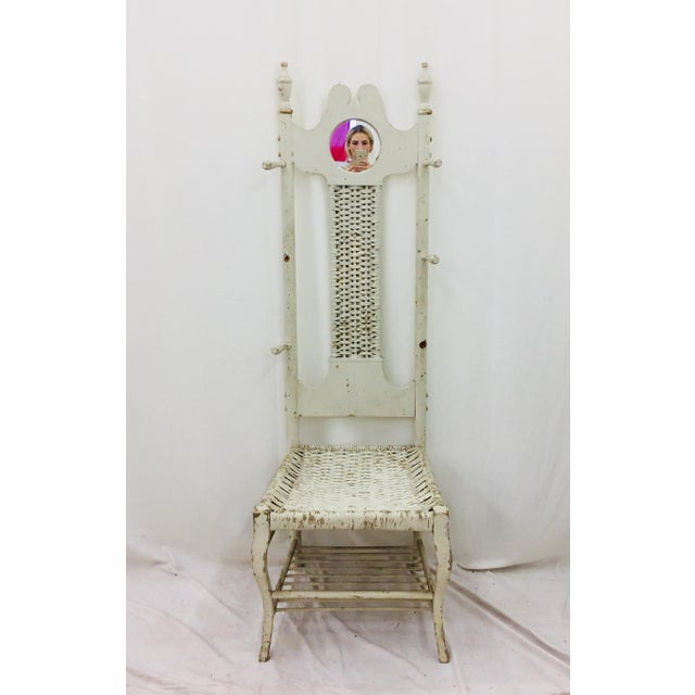 Antique Victorian Coat Rack - Hall Chair For Sale - Image 11 of 11