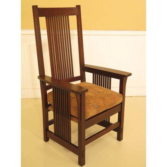 fe43fcc541 Arts & Crafts Stickley Mission Oak High Back Dining Room Chairs - Set of 6  For
