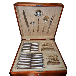 Complete Silverware Set by WMF in Art Deco Box - 143 Piece Set For Sale
