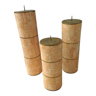 Maitland Smith Tessellated Candle Holders - Set of 3 For Sale