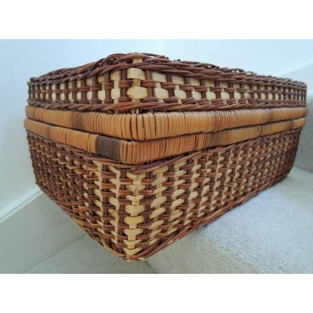 Vintage Picnic Basket & Tableware - Service for 4 For Sale - Image 12 of 13