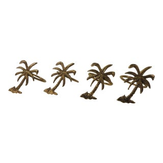 Decorative Palm Trees Napkin Holders - Set of 4 For Sale