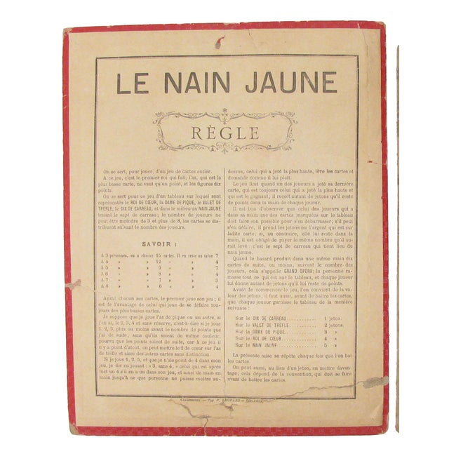 Belle Epoque Vintage French Game Board & Rules Sheet - A Pair For Sale - Image 3 of 4