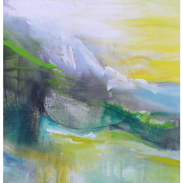 """""""Rocky Mountain Morning"""" is an abstract landscape oil painting on canvas by Chairish's 2019 """"Super Seller"""" artist, Trixie..."""