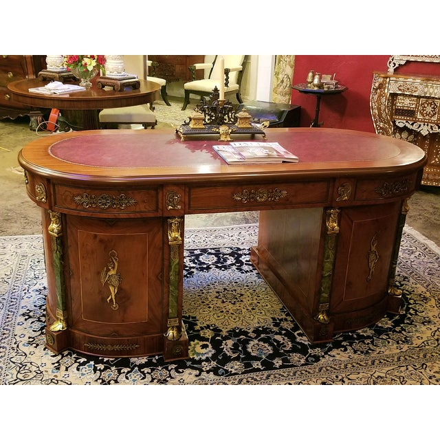 Egyptian Classical Revival Desk For Sale - Image 9 of 12
