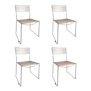 Italian Chrome Metal Spaghetti Chairs, 20th Century - Set of 4 For Sale