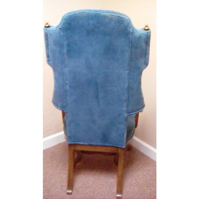 Jim Peed Esperanto Drexel Wingback Chair - Image 4 of 9