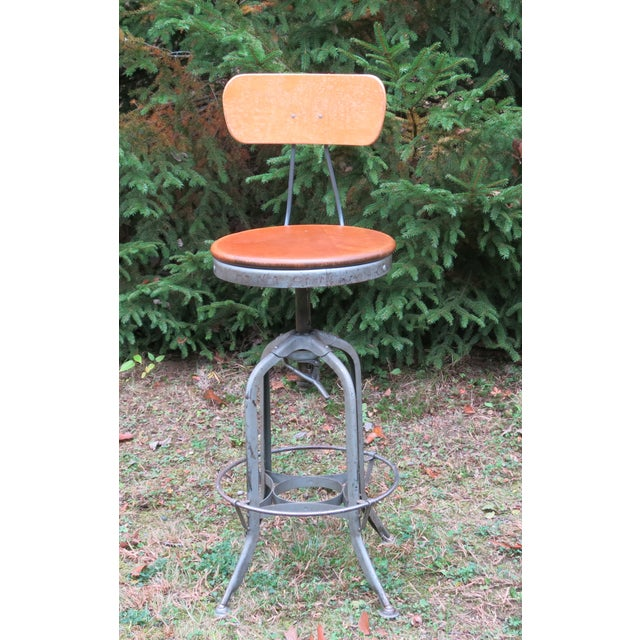 Gray Vintage Industrial Toledo Stool For Sale - Image 8 of 8