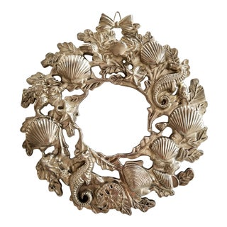 Godinger Silver Art Co Nautical Silverplate Wreath Trivet/Wall Hanging For Sale