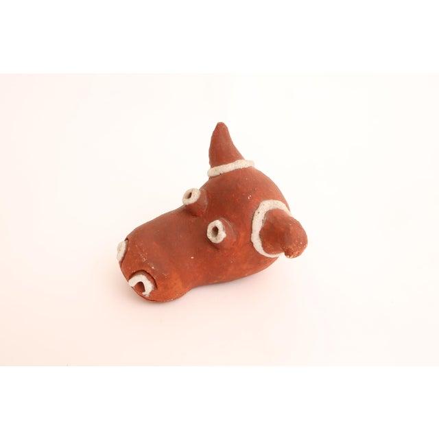 Folk Art Mid-Century Modern Handmade Studio Pottery Bull For Sale - Image 4 of 7