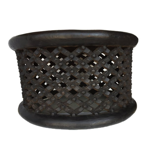 """African Bamileke Spider Table/ Stool 30.5"""" D For Sale In New York - Image 6 of 7"""