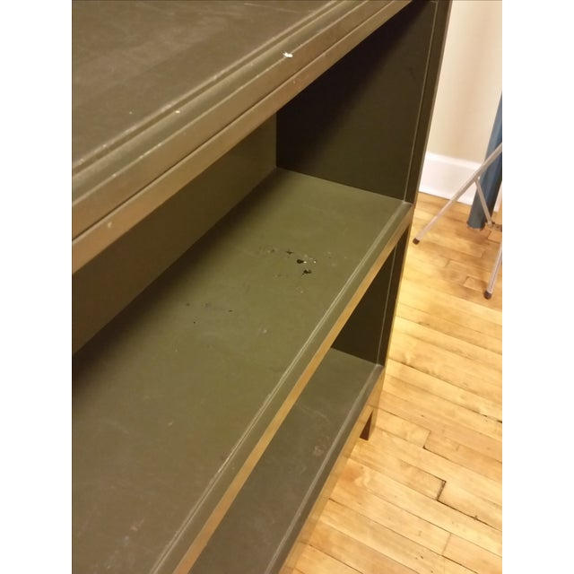 Metal Industrial Open Stacking Bookcase For Sale - Image 7 of 9