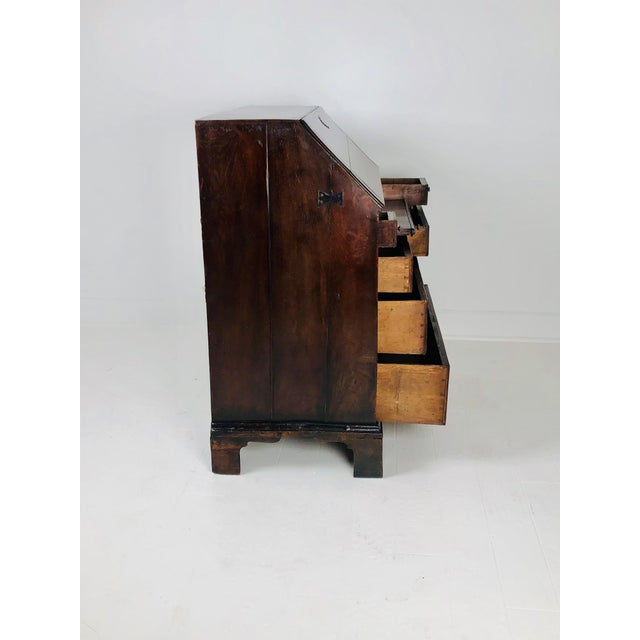 Early Georgian English Oak Slant Front Desk, Circa 1740 For Sale In San Francisco - Image 6 of 11