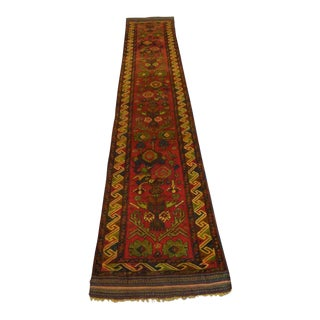 Handmade Turkish Runner - 2′2″ × 12′1″