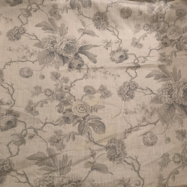 Boho Chic Château De Grancey by Brunschwig & Fils Linen Fabric For Sale In New York - Image 6 of 6