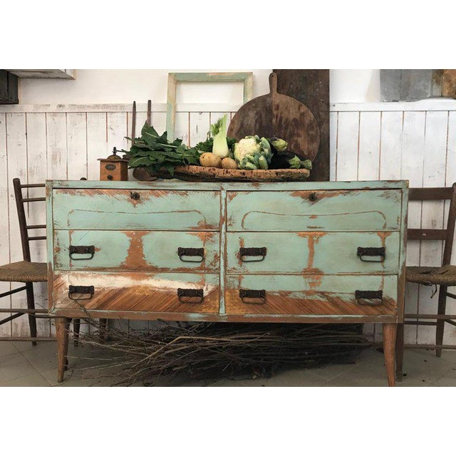 Italian 20th Century Italian Vintage Design Lacquered Commode or Chest With Frame For Sale - Image 3 of 13