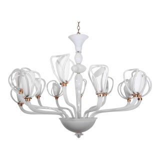 Murano Chandelier by Venini For Sale