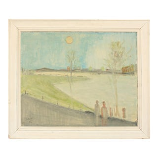 1956 Expressionist Coastal Landscape by Svend Aage Tauscher For Sale