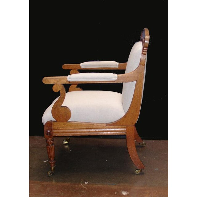 Traditional A William IV Oak Open Arm Chair For Sale - Image 3 of 6
