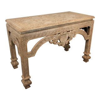 Baker Stately Homes Carved Console Sofa Table For Sale