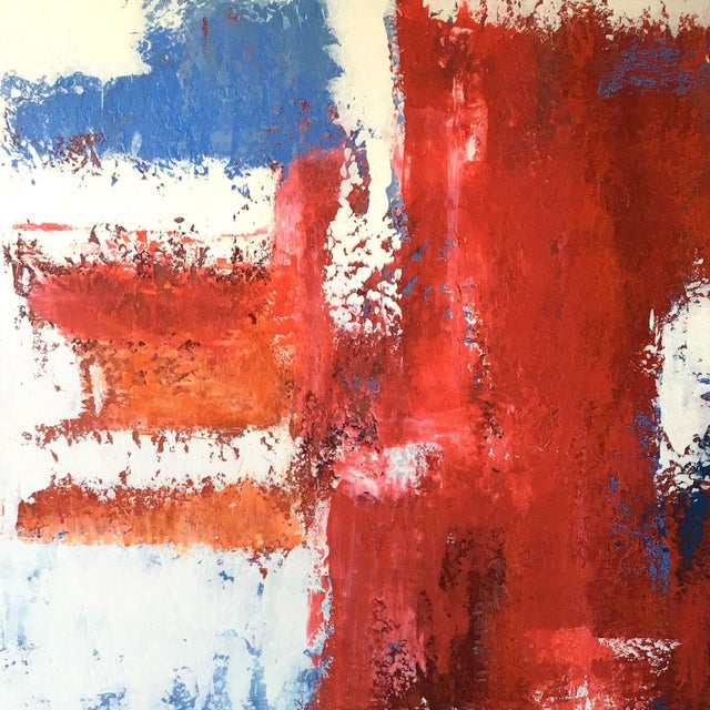 Mario Sergio Lopomo Vintage Abstract Painting For Sale In Atlanta - Image 6 of 10