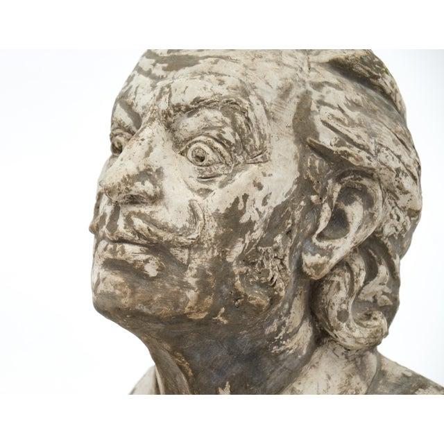 Salvador Dali Vintage Stone Sculpture Bust For Sale - Image 9 of 10