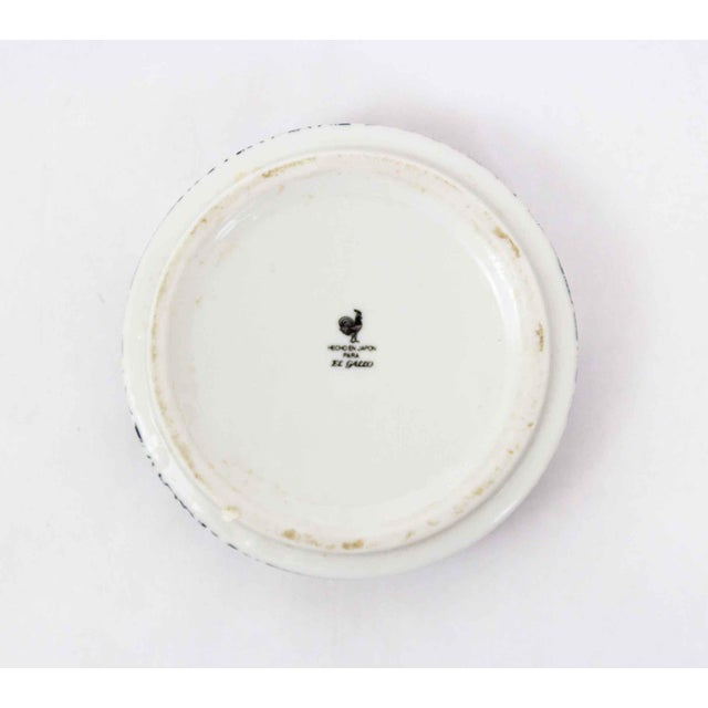 Japanese Blue & White Floral Ashtray For Sale - Image 3 of 4