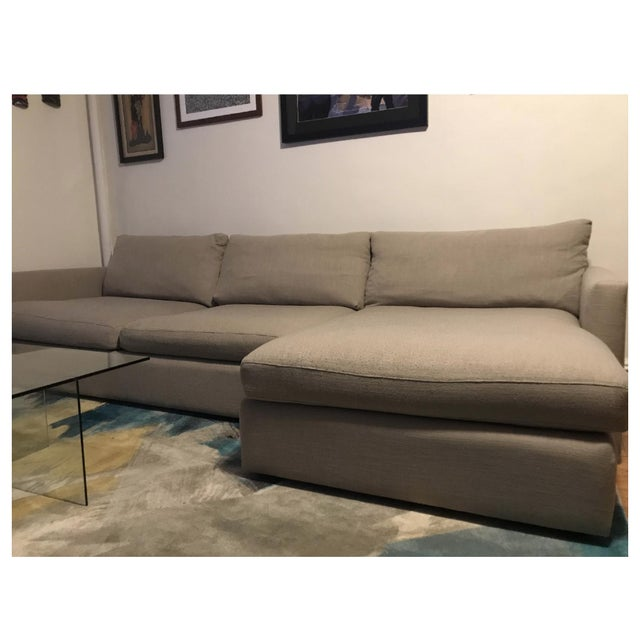 Brand : Crate & Barrel Collection : Lounge II 2 Piece Sectional Dimensions : Width: 124 inch(es), Height: 37 inch(es),...
