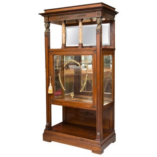 French Empire Gilt Metal and Rosewood Étagère For Sale