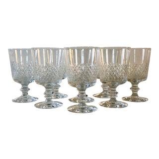 Kosta Boda Wheel-Cut Wine Glass Stems, Set of 8 For Sale