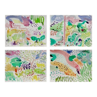 Butchart Garden Watercolors - Set of 4 For Sale