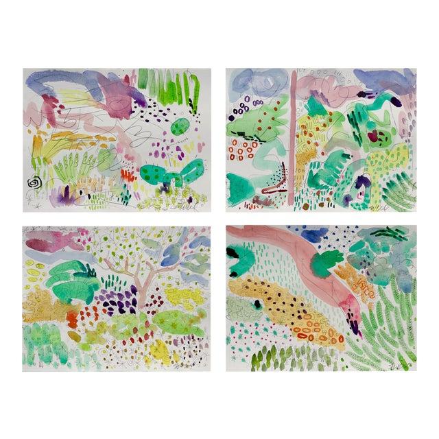 Butchart Garden Watercolors - Set of 4 For Sale