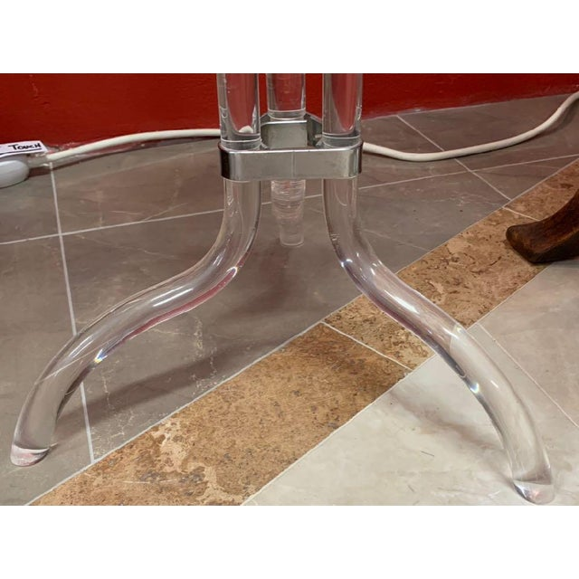 Metal Dorothy Thorpe Lucite Stand and Champagne Bucket For Sale - Image 7 of 9