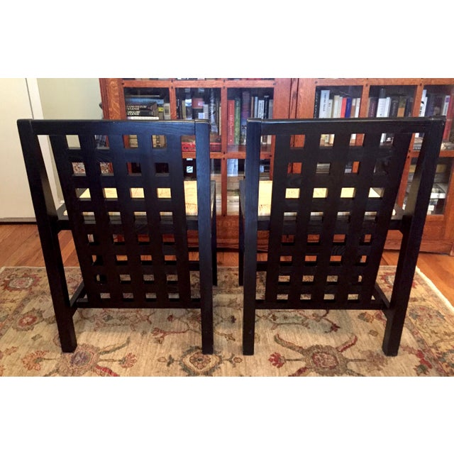 Art Nouveau 1970s Art Nouveau Charles Mackintosh Dining Chairs - a Pair For Sale - Image 3 of 10