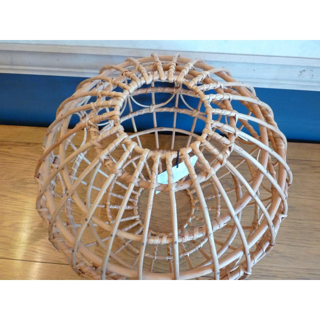 Rattan Franco Albini Style Globe Pendant Light Shade For Sale - Image 7 of 9